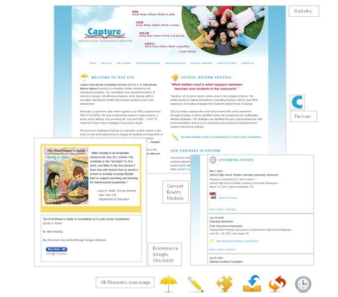 Capture Education Consulting website