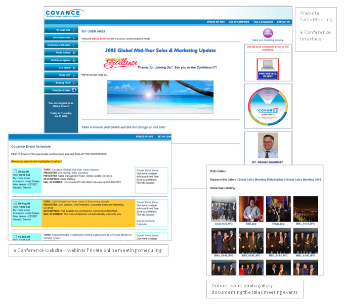 Covance e-Conference Website