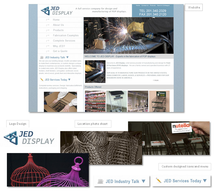 JED Design website